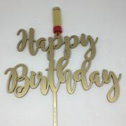Happy Birthday Cake Topper con Shot