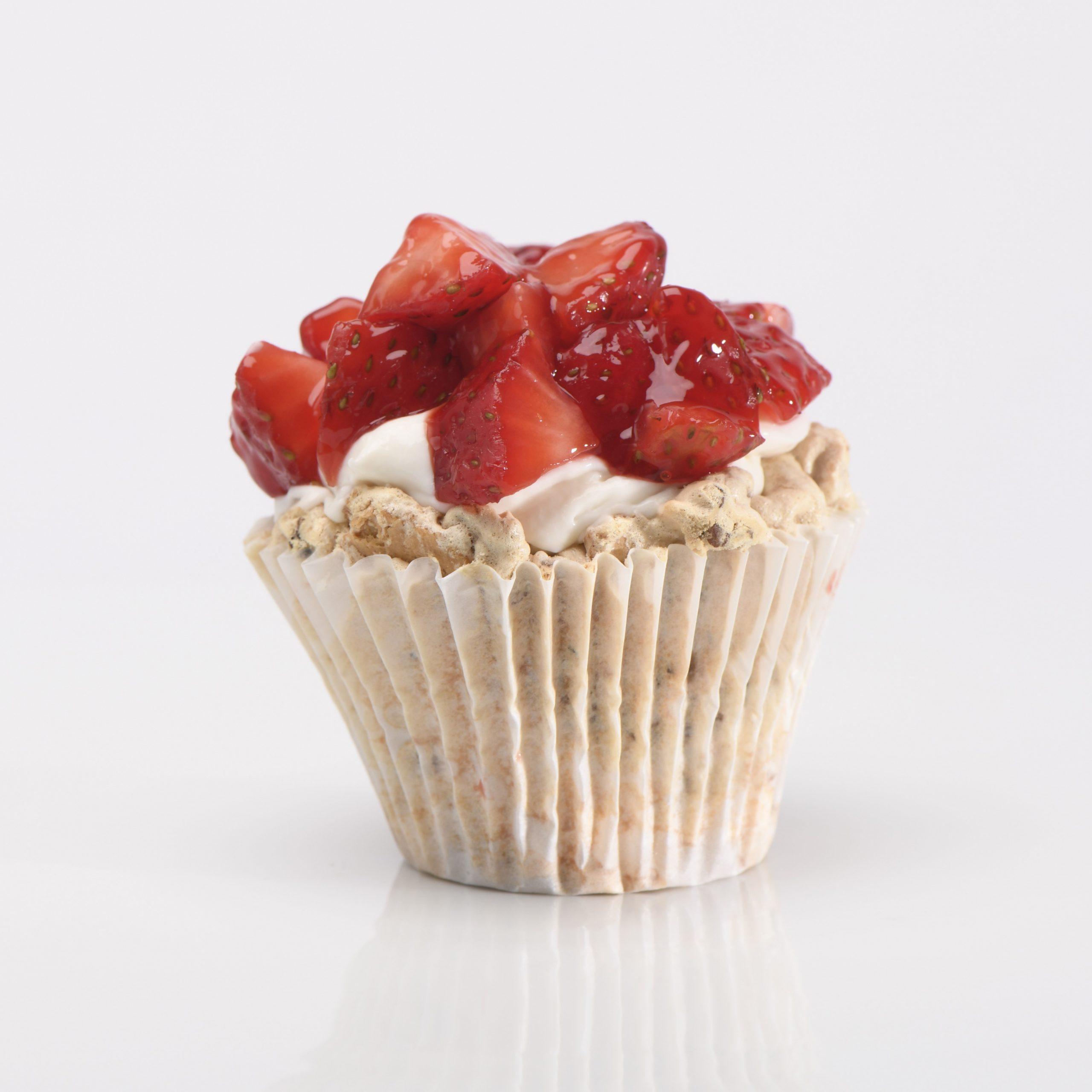 Cupcake de Mostachón de Fresa