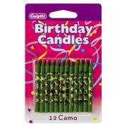 Camo Print Traditional Candles