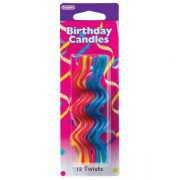 17965 12 Primary Twist Candles