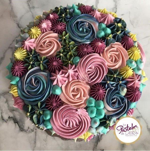 Rosette and Stars Cake