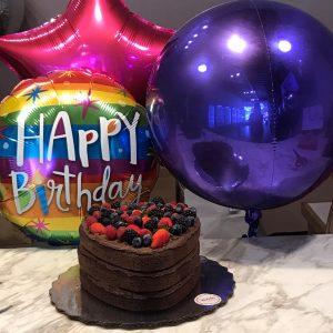 happy birthday stars and heart set
