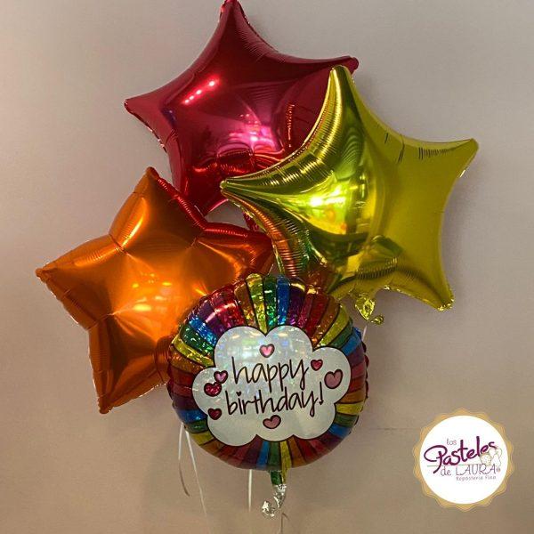 Globos Retro Rainbow Birthday