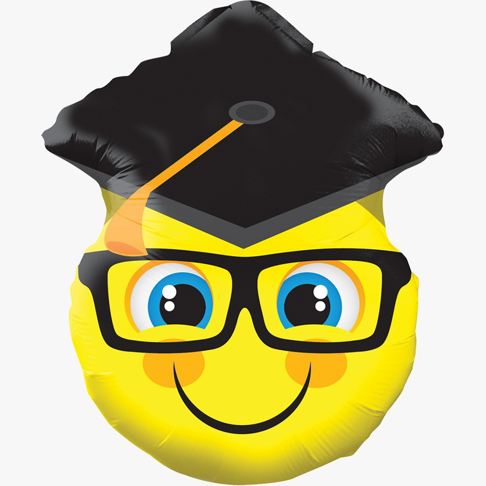 Smiley with Grad Cap