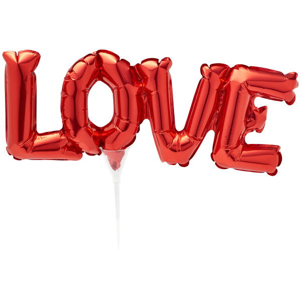 Inflatable Red LOVE Anagram Pic