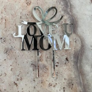 Love u Mom Cake Topper