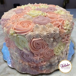 rosettes and stars mothers day cake